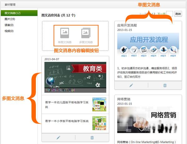 微信公众平台快速上手教程Part3 素材编辑与自动回复
